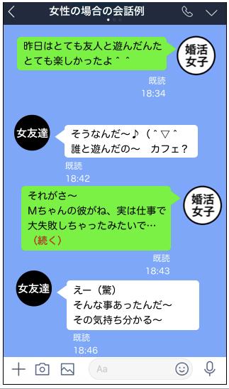 追われる女LINE方法12