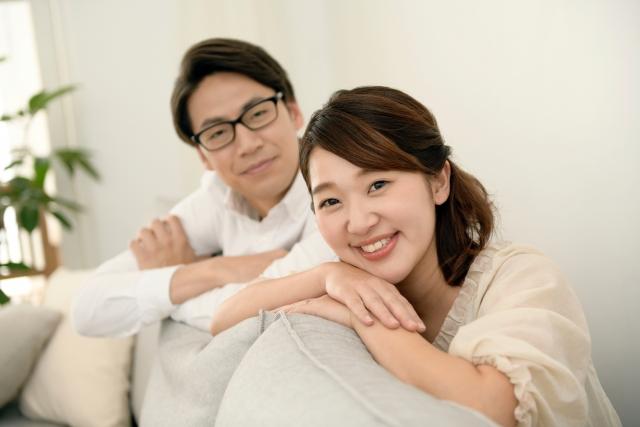 夫婦の笑顔