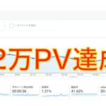 ブログ2万PV達成|1万PVの後には早い!